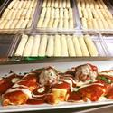 The stages of our homemade manicotti!